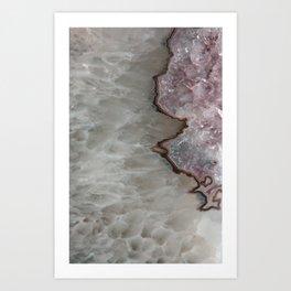 Agate Crystal Lavender Art Print