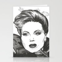 evil queen Stationery Cards featuring The Evil Queen by ShayMacMorran