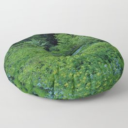Teal Forest Floor Pillow
