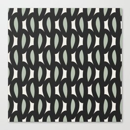 geo six-celadon Canvas Print