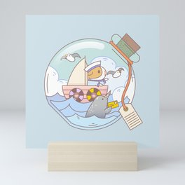 Bubu the Guinea pig, A jar of adventure Mini Art Print