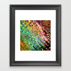 Colorful Glass Abstract Framed Art Print