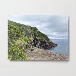 Newfoundland Coastline Metal Print