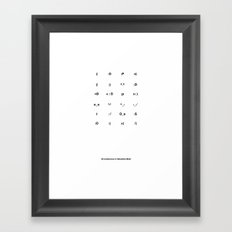 24 Emoticons in Helvetica Bold Framed Art Print
