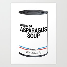 13 Cream of Asparagus Art Print