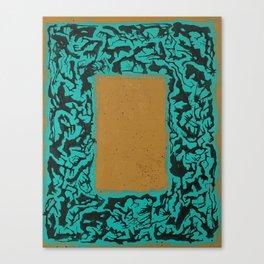 16 x 20 yellow-teal shape pt2 Canvas Print