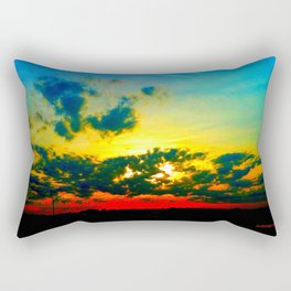 Curdled Clouds Rectangular Pillow