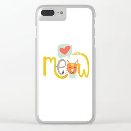 Meow Love Clear iPhone Case