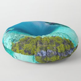 Turquoise and blue Floor Pillow