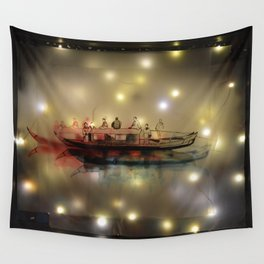 Boat on the River Wall Tapestry