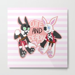 Cute And Deadly Metal Print