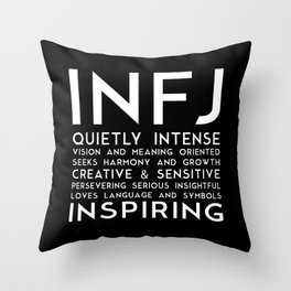 INFJ (black version) Throw Pillow