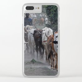 Cow Herder Clear iPhone Case