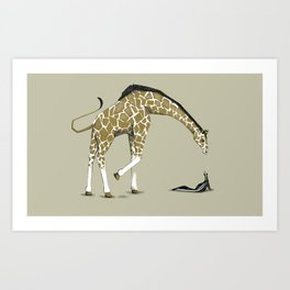 Puzzola pesta lo zoccolo alla giraffa Art Print