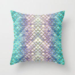 Pretty Mermaid Scales Throw Pillow