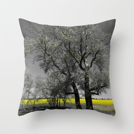 The Beauty of Canola Fields Throw Pillow