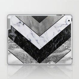Shimmering mirage - grey marble chevron Laptop & iPad Skin
