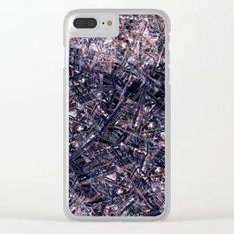 Steel Pool Math Rub Clear iPhone Case