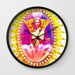 Golden Queen mirrored Wall Clock