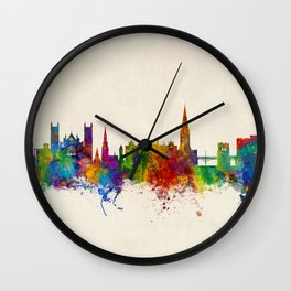 Exeter England Skyline Wall Clock