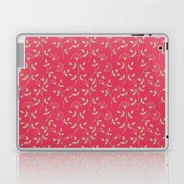 Doodle floral pattern red Laptop & iPad Skin