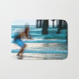 Abstract Pier Creeper Bath Mat