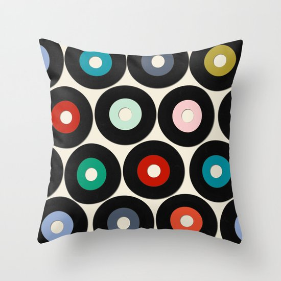 Vinyl Throw Pillows : VINYL Throw Pillow by Sharon Turner Society6