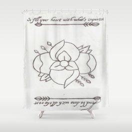 La Dispute Logo Tattoo Shower Curtain