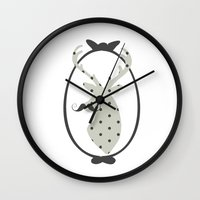 calendars Wall Clocks featuring Frame, Deer, Vintage, Modern, Home Decor, Mustache, Polka dot by Shabby Studios Design & Illustrations ..