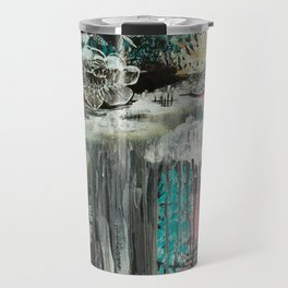 """Flourish"" Original Artwork by Carrie Panchyshyn Travel Mug"