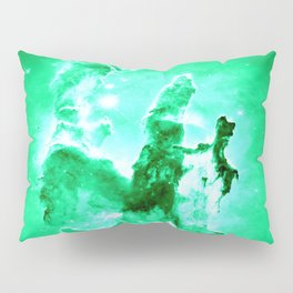 NEbula. : Green Pillars of Creation Pillow Sham