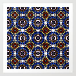 The Damascus pattern . Art Print