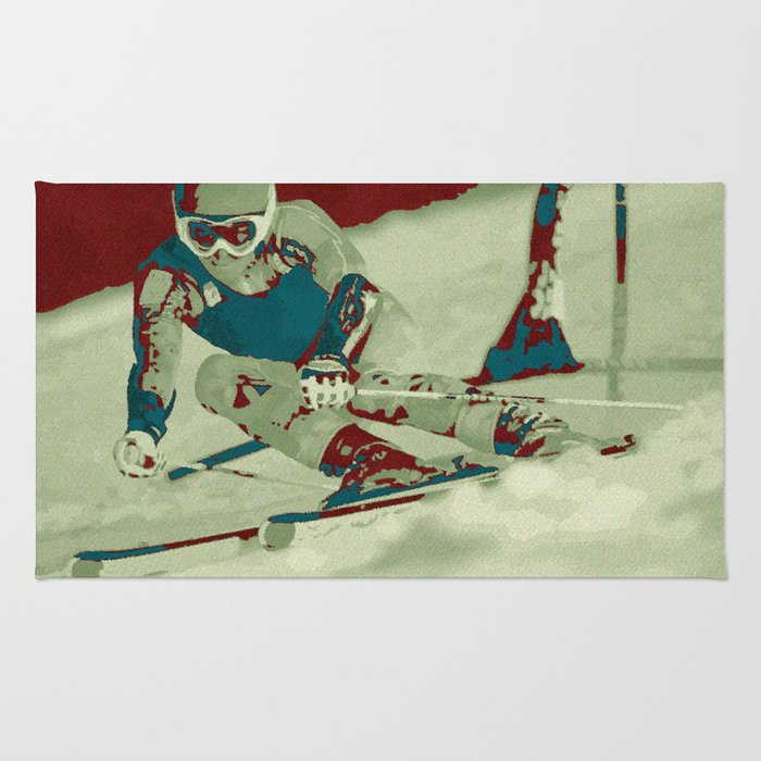 The descent (downhill skiing) Rug