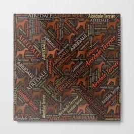 Airedale Terrier Word Art Metal Print