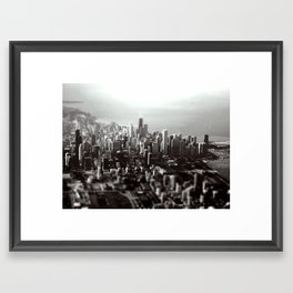Chicago Skyline (tilt-shift) Framed Art Print