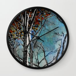 Land of the Silver Birch Wall Clock