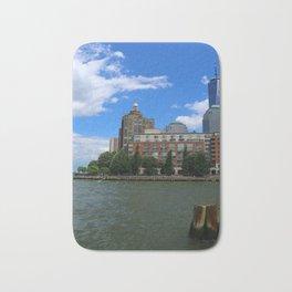 Manhattan And Hudson River Bath Mat