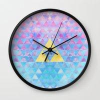 zelda Wall Clocks featuring Zelda Geometry by enthousiasme
