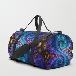 Frosty swirls - Fractal artwork Duffle Bag