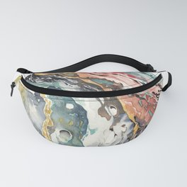 Abstract Circular Geode Watercolor Fanny Pack