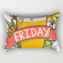 FRIDAY HAPPY HOUR Rectangular Pillow