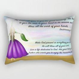 Flower girl from heaven - Deuteronomy 28, 12 Rectangular Pillow