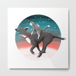 Together we are faster | Illustration Metal Print