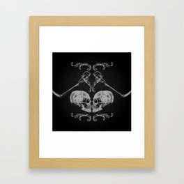 """""""Skull in Love"""" Framed Art Print"""