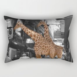 Safary in City. African Invasion. Rectangular Pillow