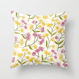 Yellow roses #04 Throw Pillow