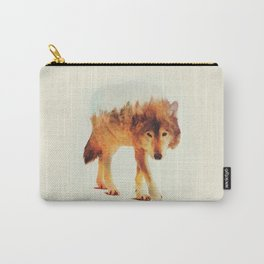 wolf in the wood Carry-All Pouch