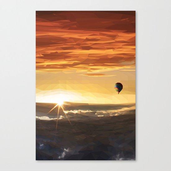 The Orange Adventurer - Sky & Balloon Canvas Print