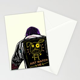 Just watch me Stationery Cards