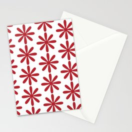 The Simple But Very Red Flower Stationery Cards